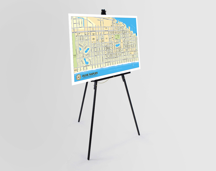 Maps of Naples Florida for Display
