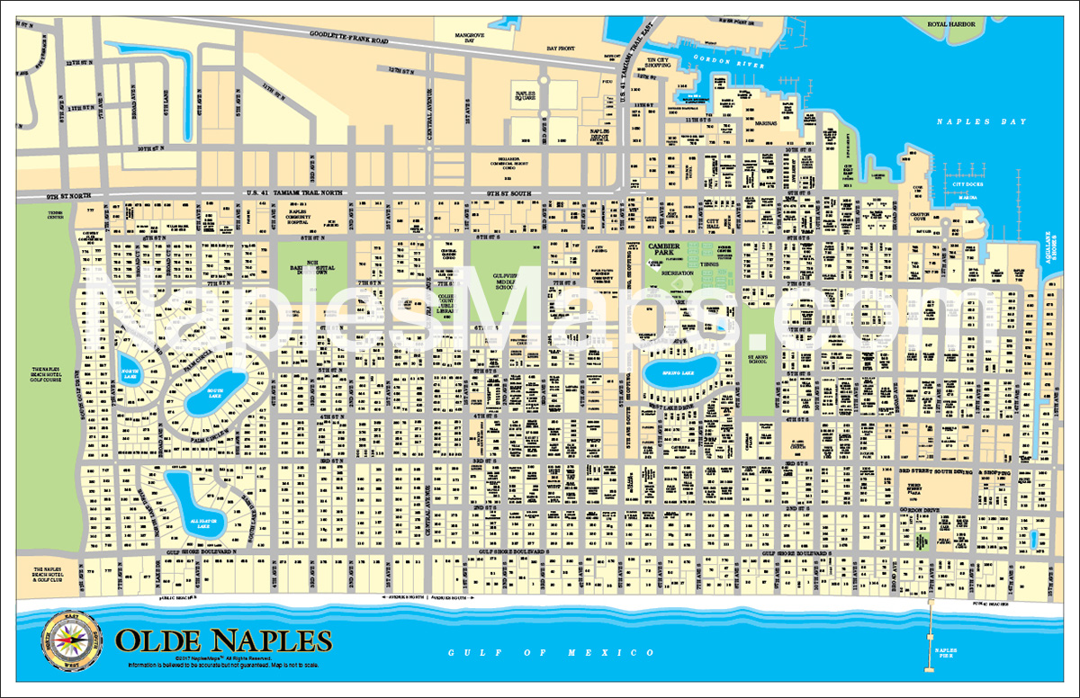 Map of Old Naples