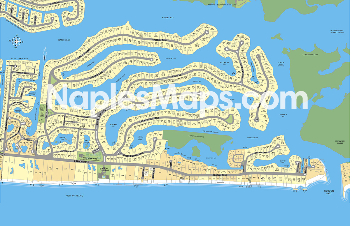 Community Map of Port Royal Naples