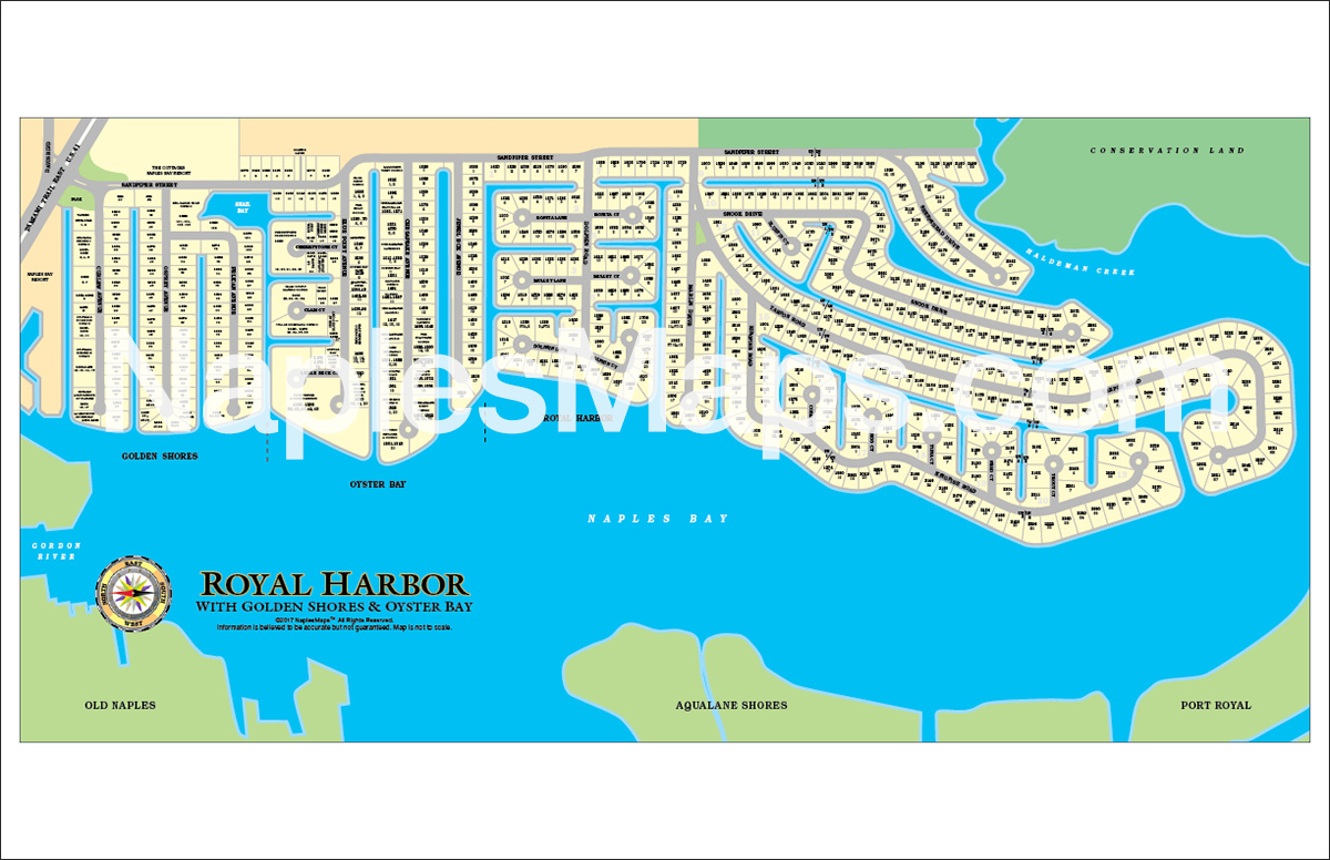Map of Royal Harbor Naples