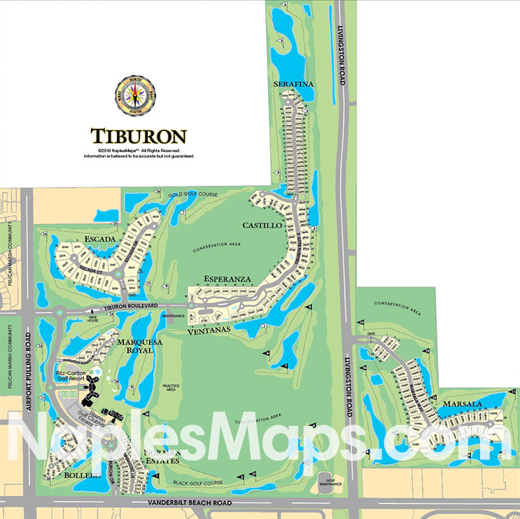 Map of Tiburon, Naples Florida