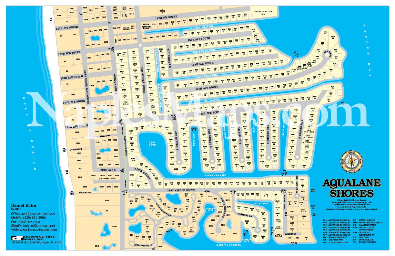 Map Naples Florida.Map Of Aqualane Shores Customized Sample Naples Florida