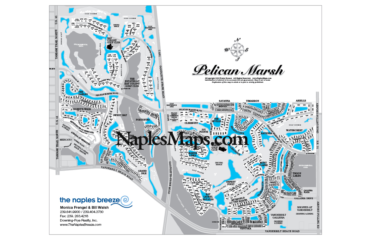 Map Of Pelican Marsh Customized Sample Naples Fl